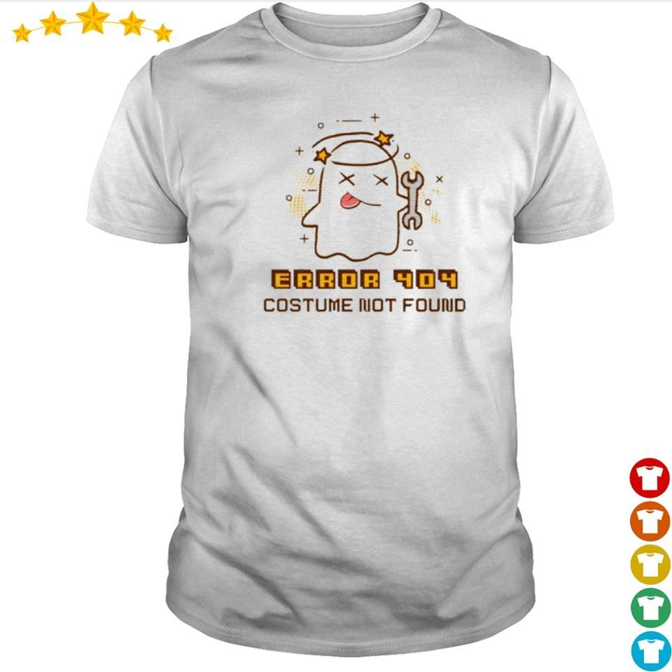 Ghost error 404 costume not found shirt