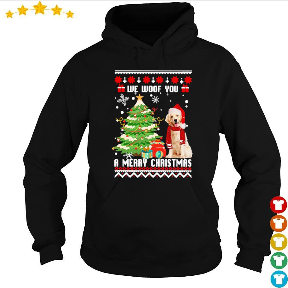Golden Retriever we woof you a merry Christmas s hoodie