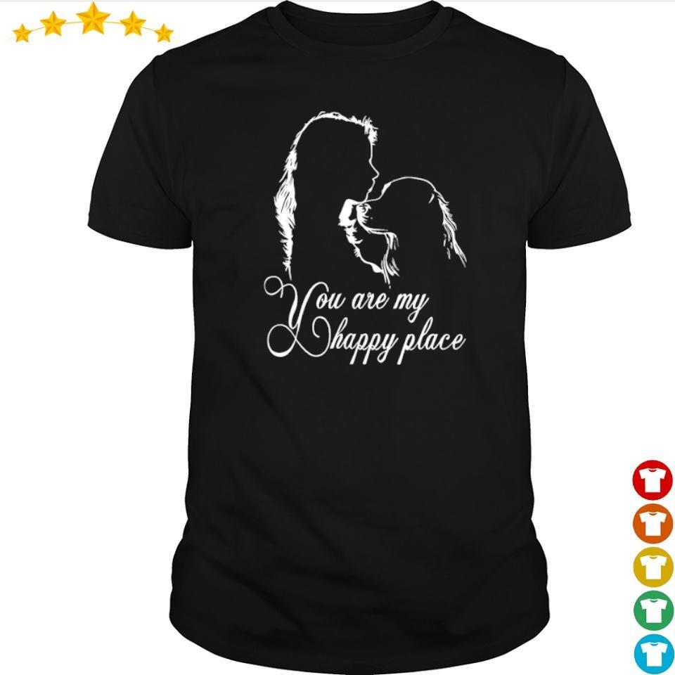 Golden Retriever you are my happy place shirt