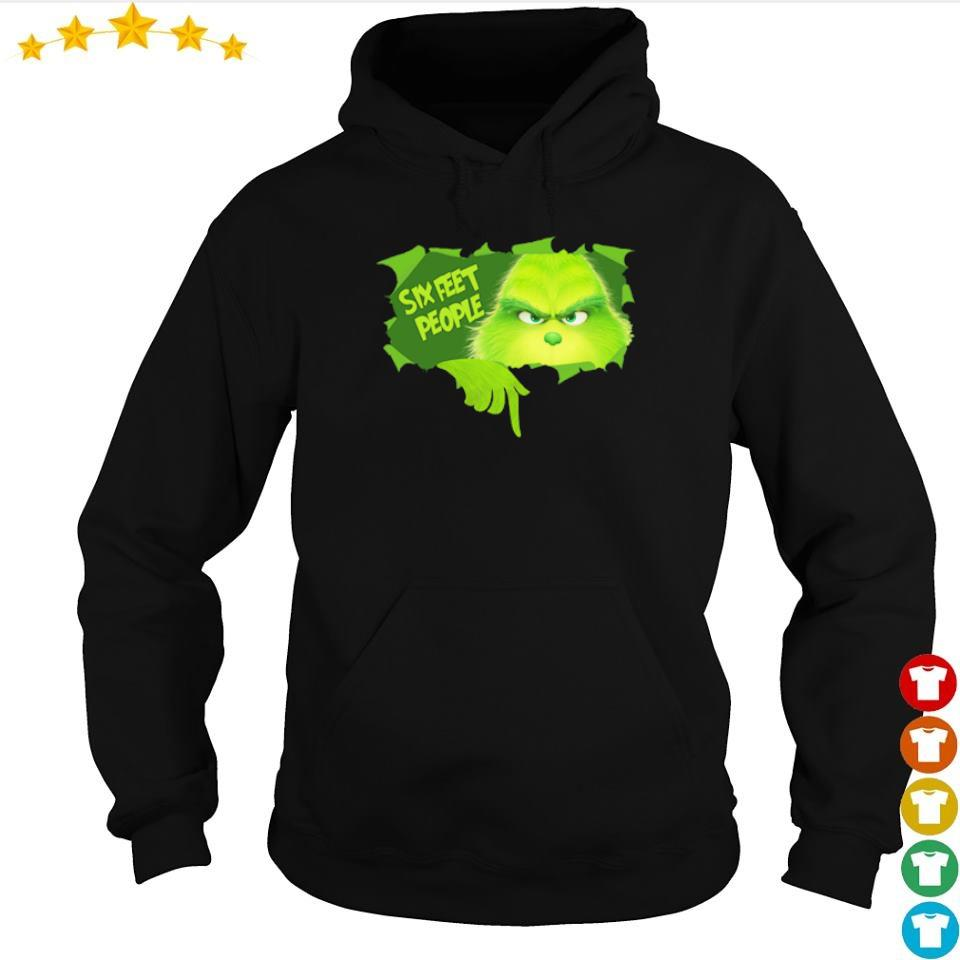 Grinch six feet people s hoodie