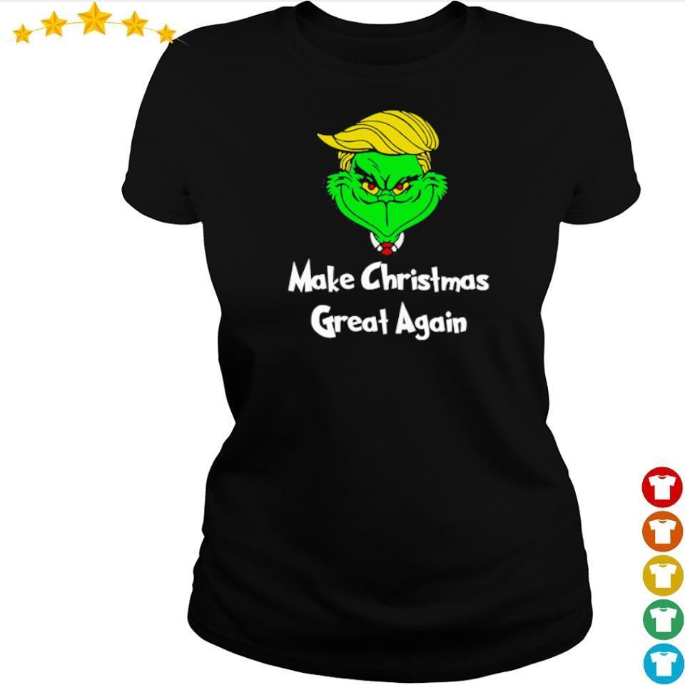 Grinch Trump make Christmas great again s ladies tee