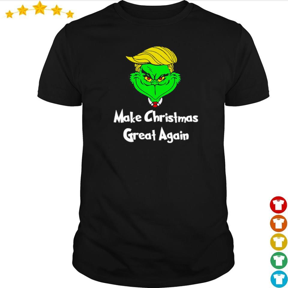 Grinch Trump make Christmas great again shirt