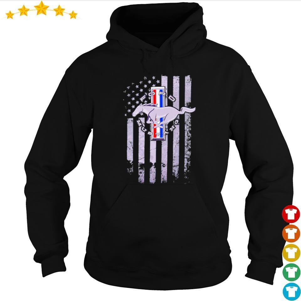 Horse Ford Mustang American Flag s hoodie