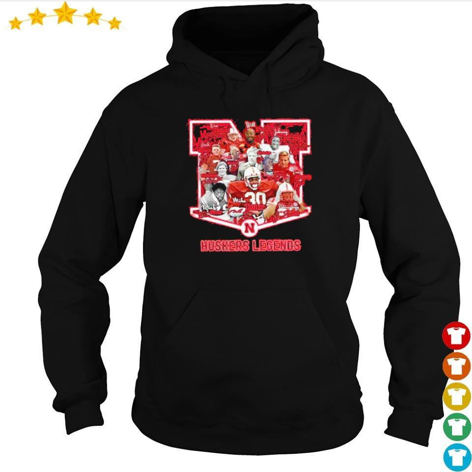 Huskers Legends football team signature s hoodie