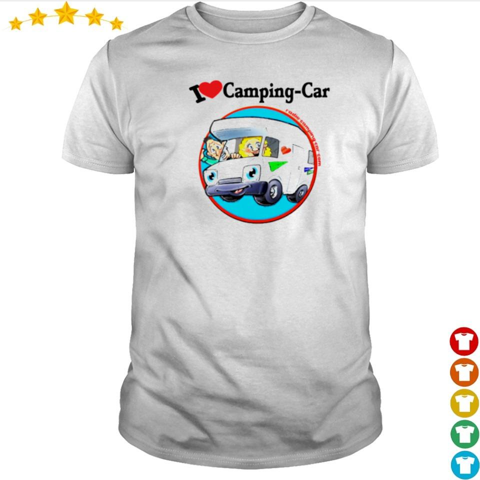 Jaime I love camping car shirt