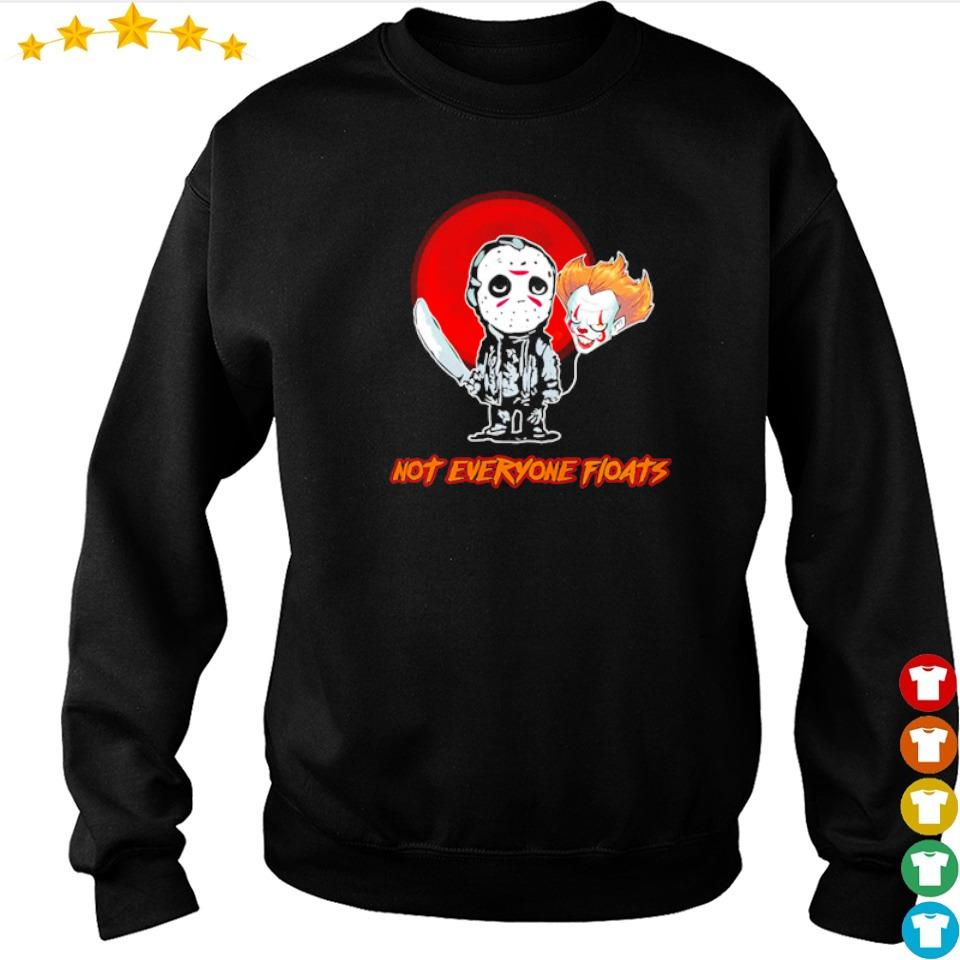 Jason Voorhees and Pennywise head balloon not everyone floats s sweater