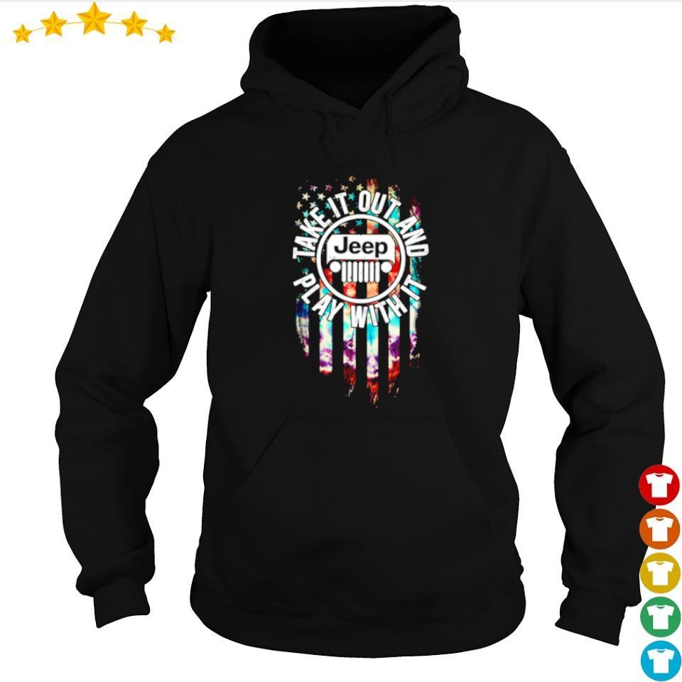 Jeep American Flag take it out and play with it s hoodie
