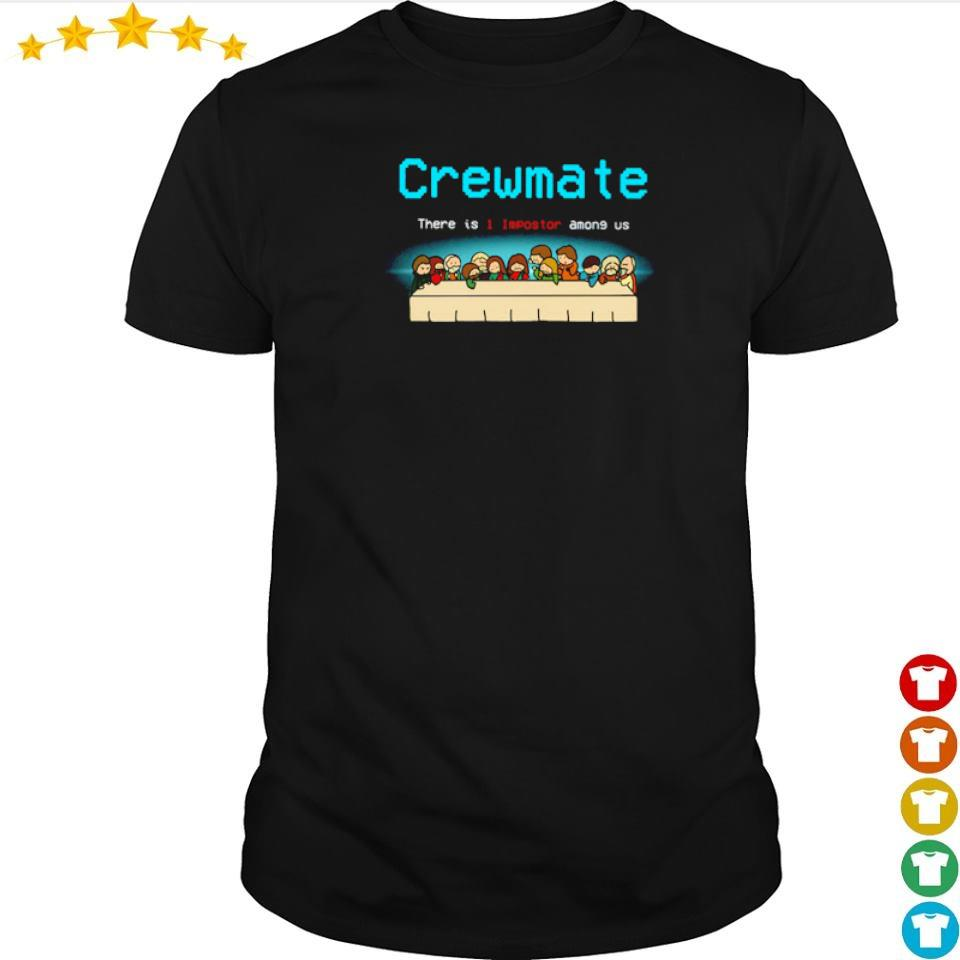 Jesus tables crewmate there is 1 impostor among us shirt