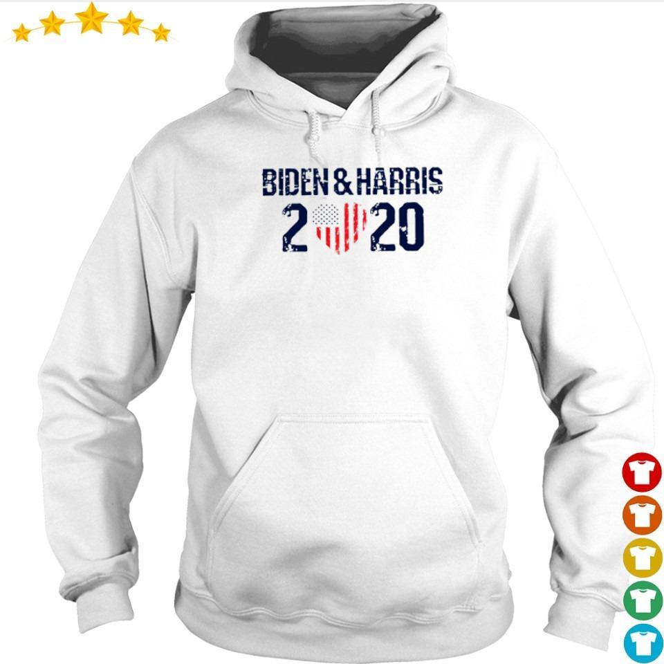 Joe Biden and Harris 2020 love American Flag s hoodie