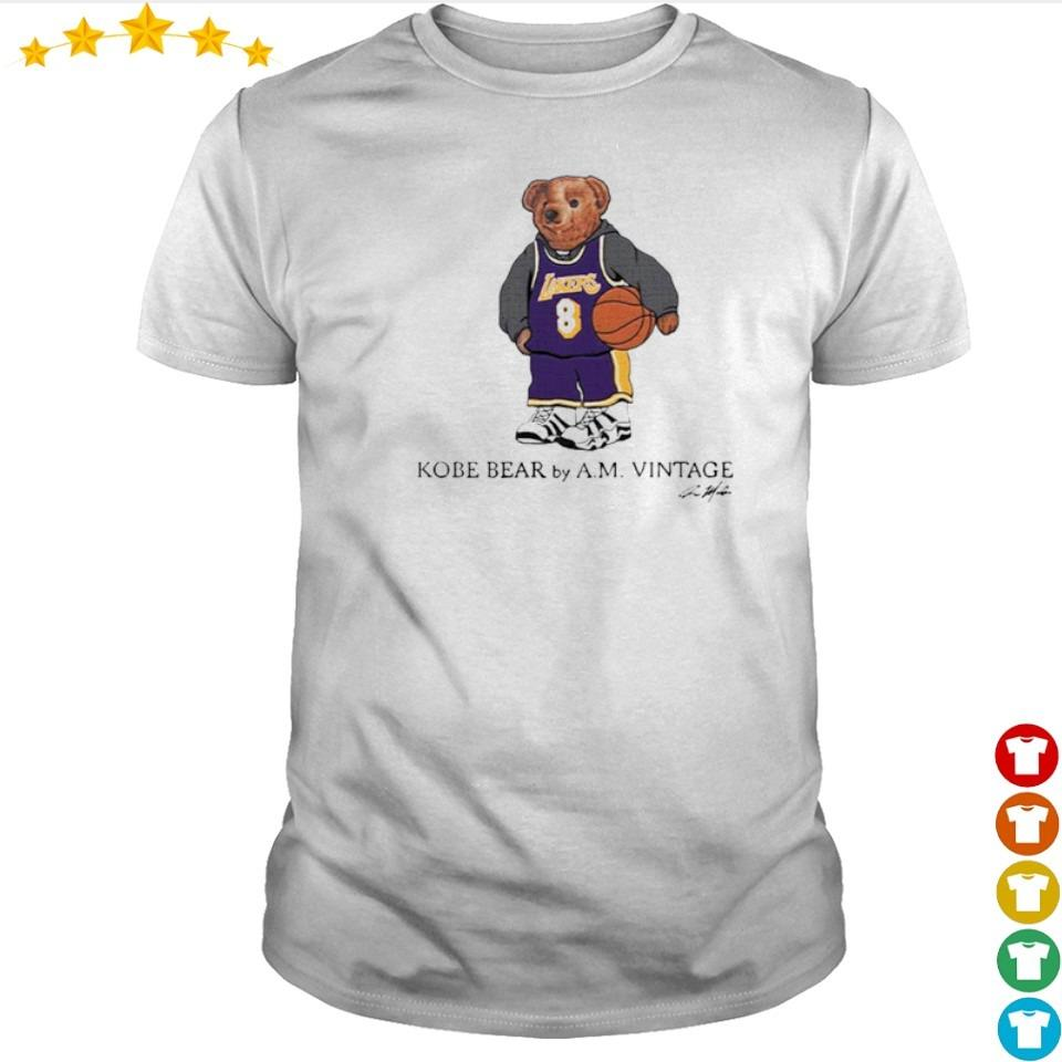 Kobe Bear by AM vintage signature shirt