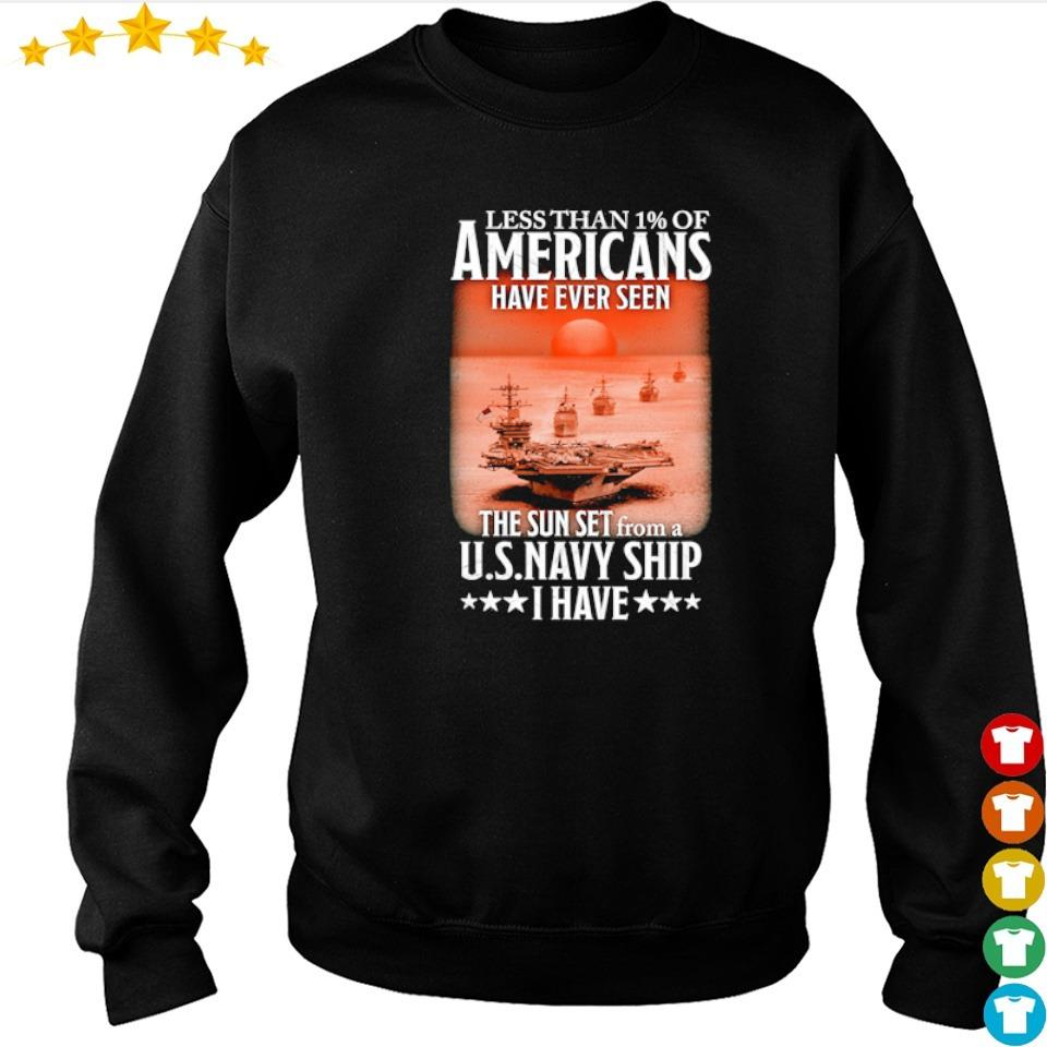 Less than 1% of Americans have ever seen the sun set from a USNavy ship I have s sweater