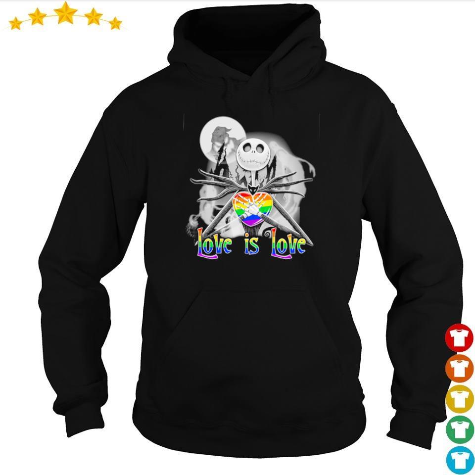 LGBT Jack Skellington love is love s hoodie