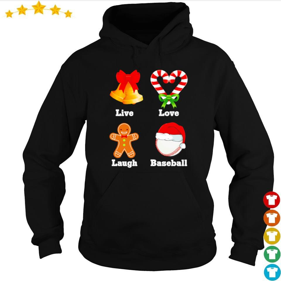 Live love laugh baseball merry Christmas s hoodie