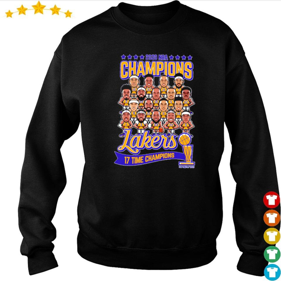 Los Angeles Lakers 2020 NBA 17 time champions champions sweater