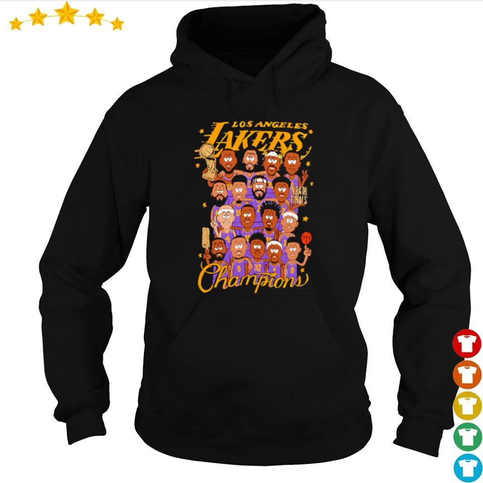 Los Angeles Lakers chibi players champions s hoodie