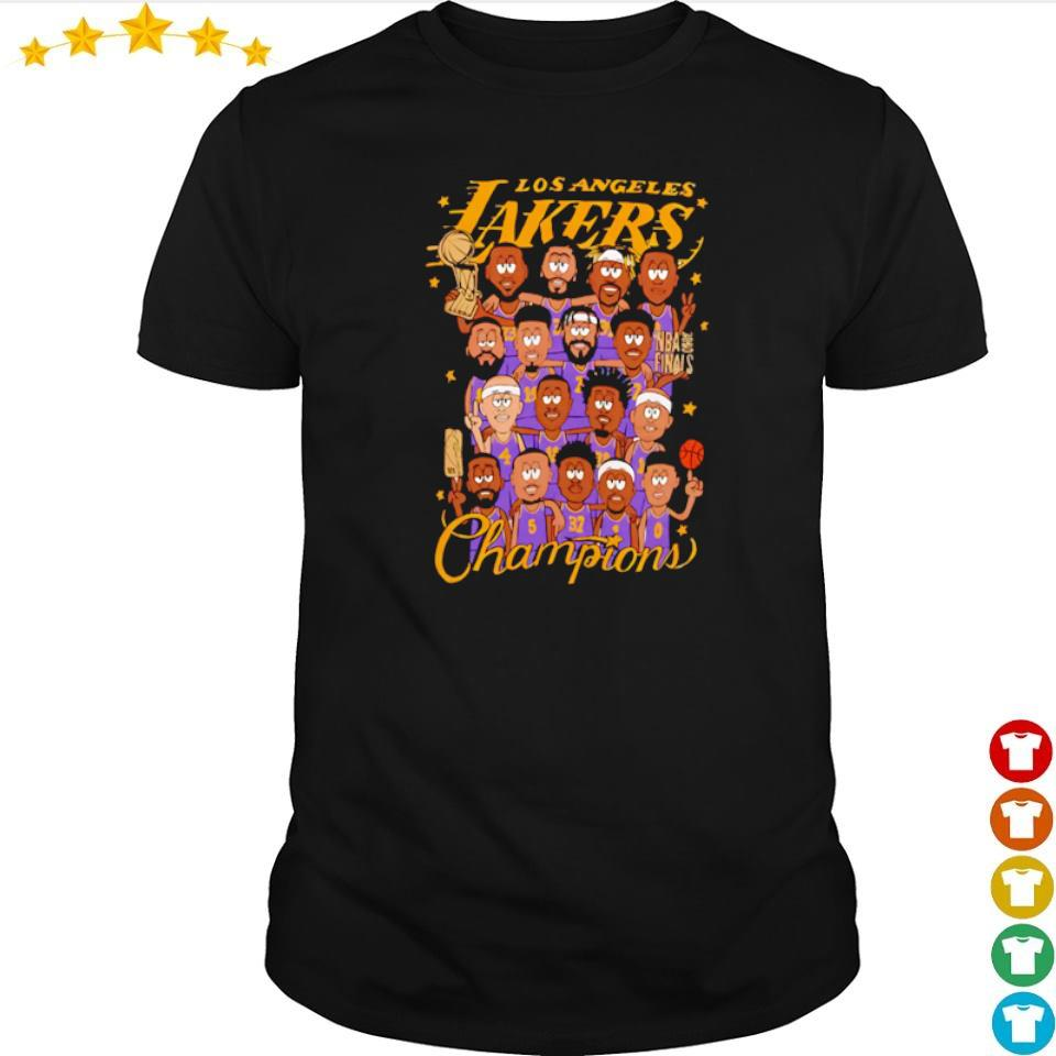 Los Angeles Lakers chibi players champions shirt