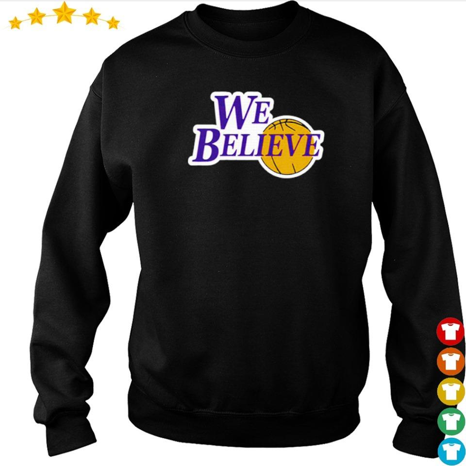 Los Angeles Lakers we believe s sweater