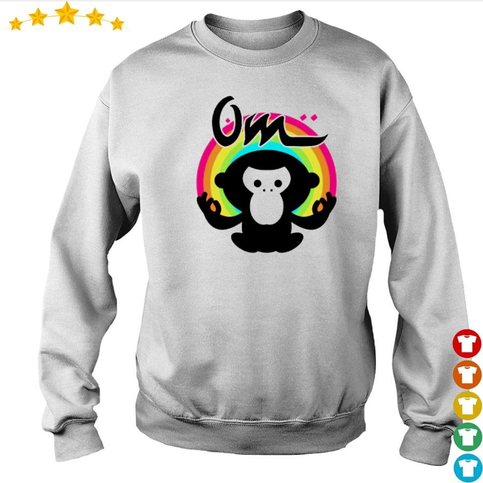 Meditating gorilla rainbow om s sweater