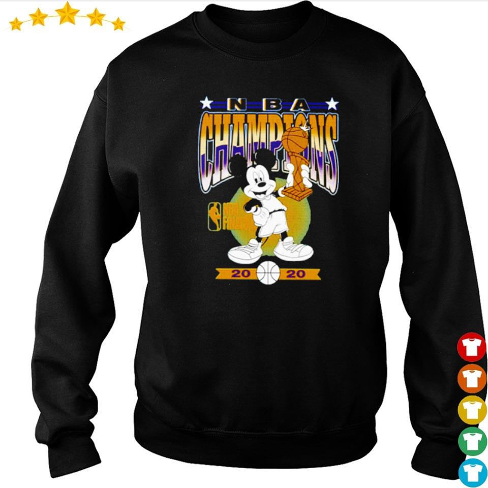 Mickey Mouse Angeles Lakers 2020 NBA champions trophy s sweater