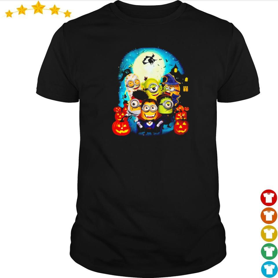 Minions wearing costume happy Halloween shirt