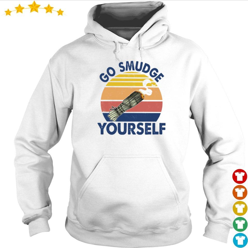 Native American go smudge yourself vintage s hoodie