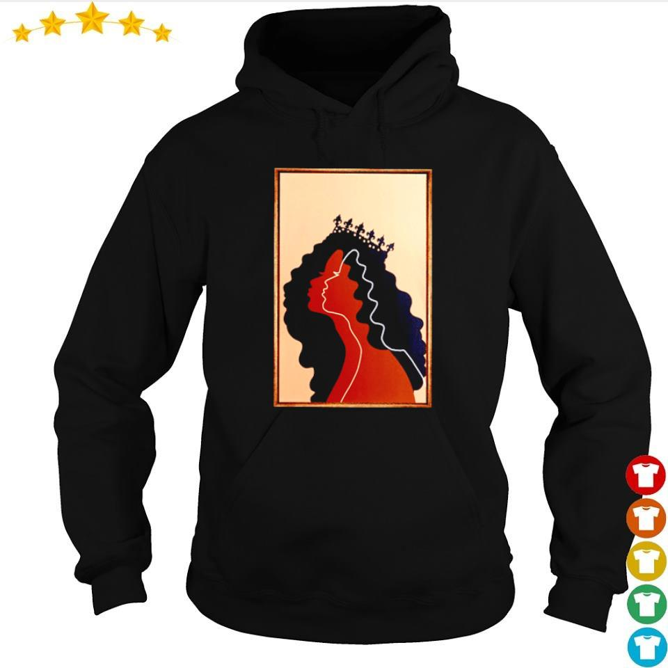 Official beautiful black woman portrait art s hoodie