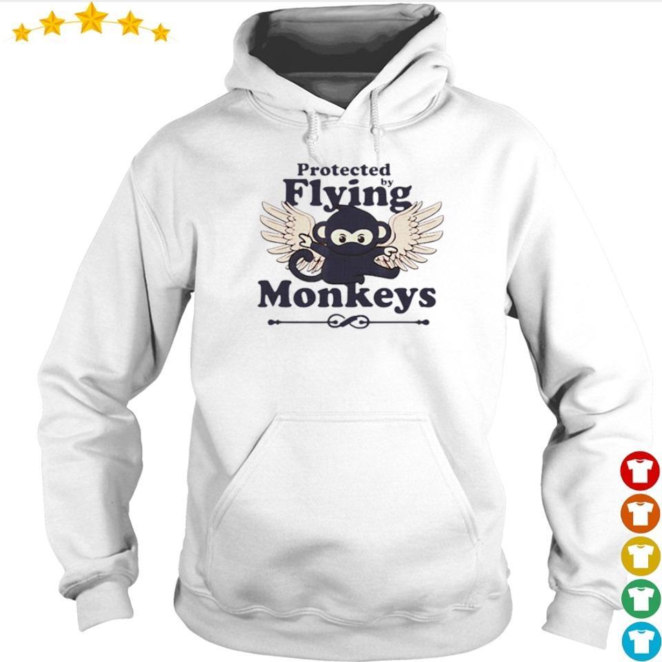 Protected by flying monkeys funny ninja s hoodie