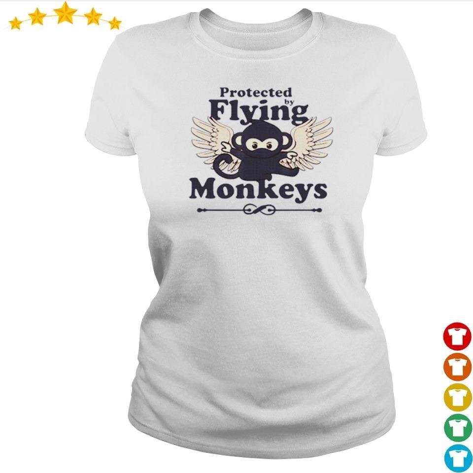 Protected by flying monkeys funny ninja s ladies