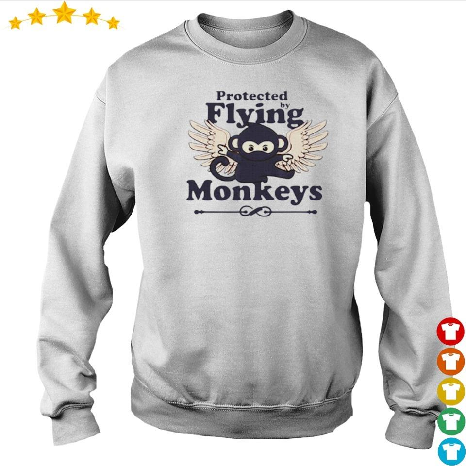 Protected by flying monkeys funny ninja s sweater