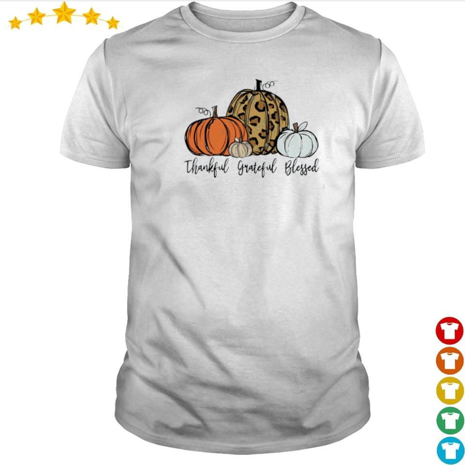 Pumpkin thankful grateful blessed happy Halloween shirt