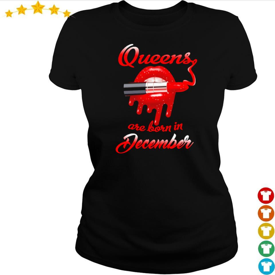Queens are born in december s ladies tee