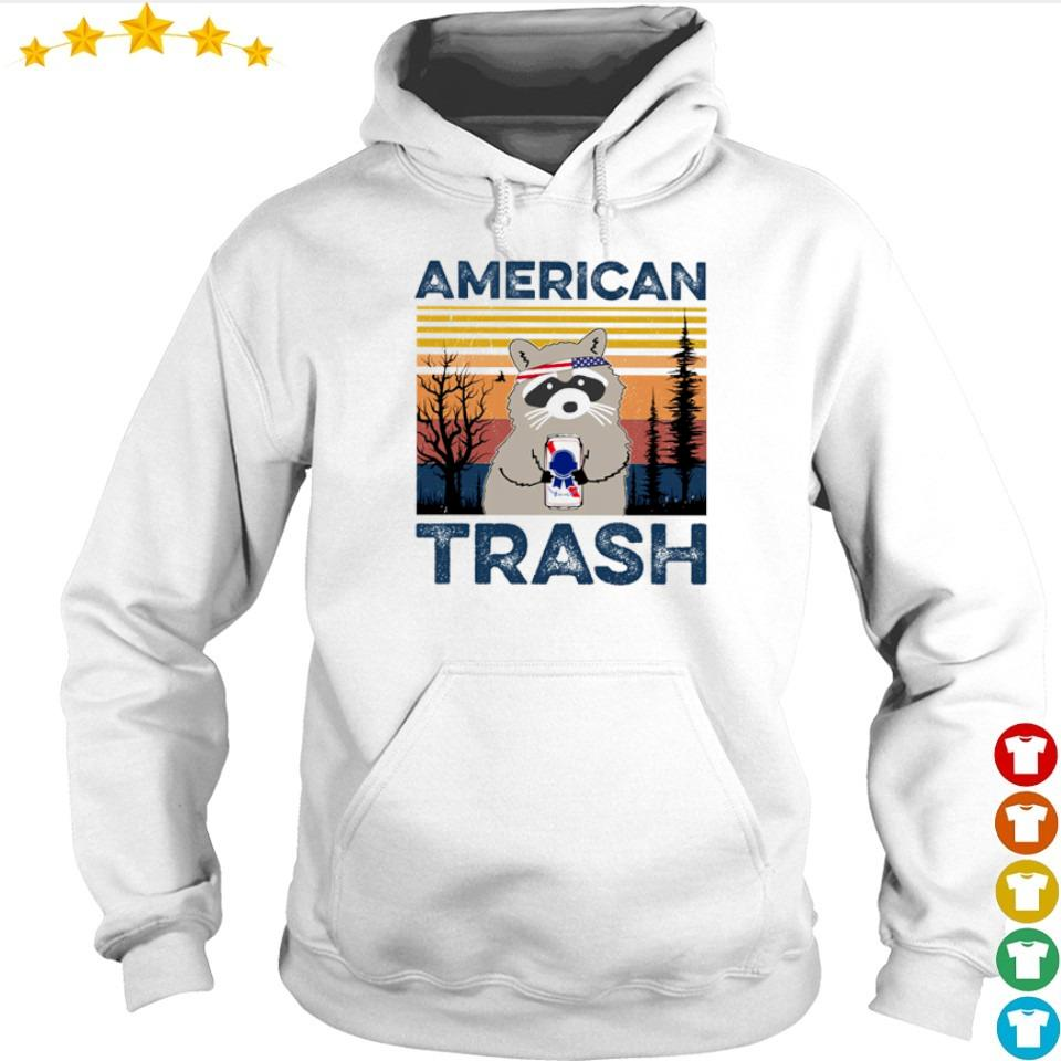 Raccoon Independence Day American trash vintage s hoodie