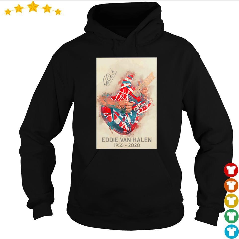 RIP Eddie Van Halen 1955 2020 signature s hoodie
