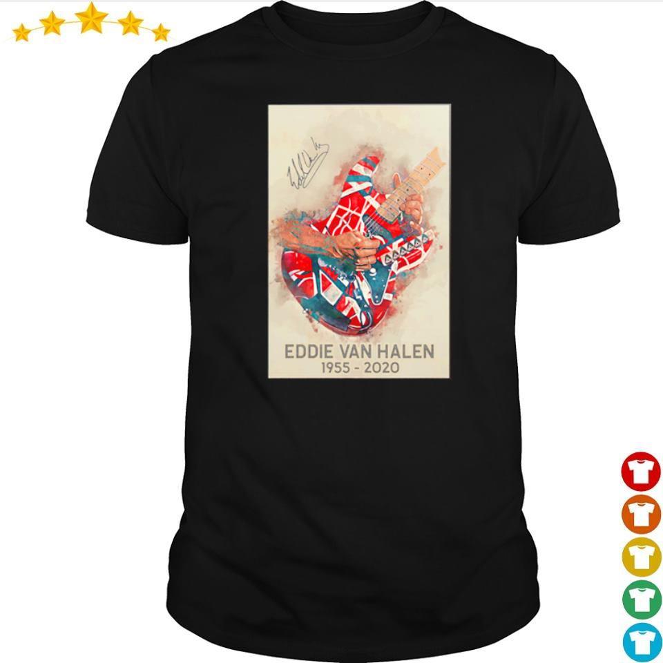 RIP Eddie Van Halen 1955 2020 signature shirt