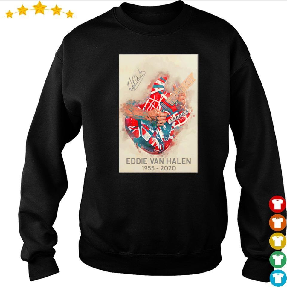 RIP Eddie Van Halen 1955 2020 signature s sweater