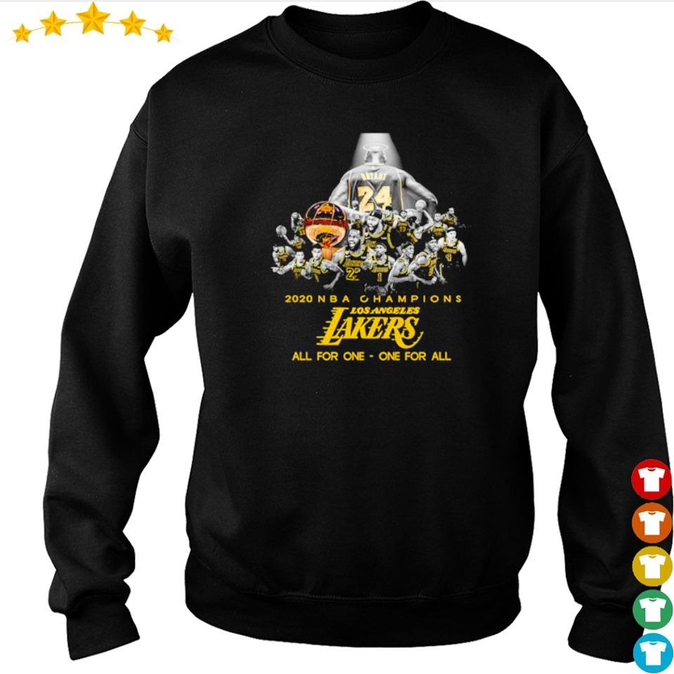 RIP Kobe Bryant 2020 NBA champions Los Angeles Lakers all for one one for all s sweater