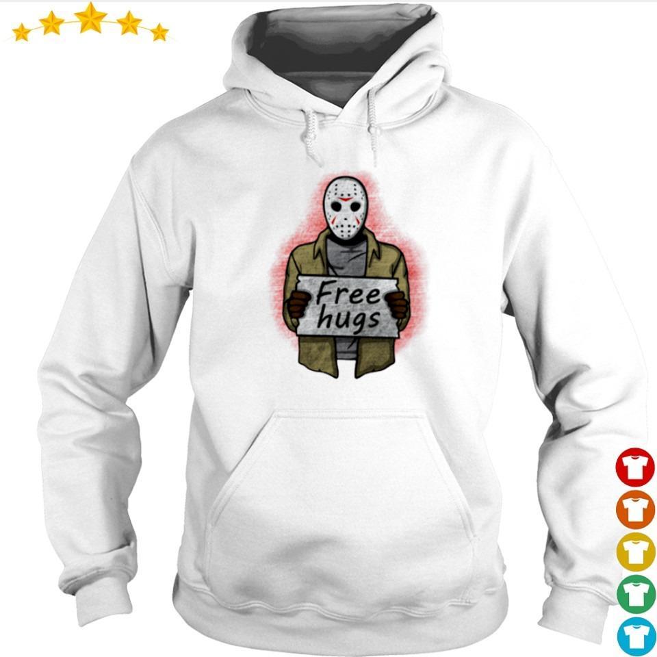 Scary Jackson Voorhees free hugs s hoodie