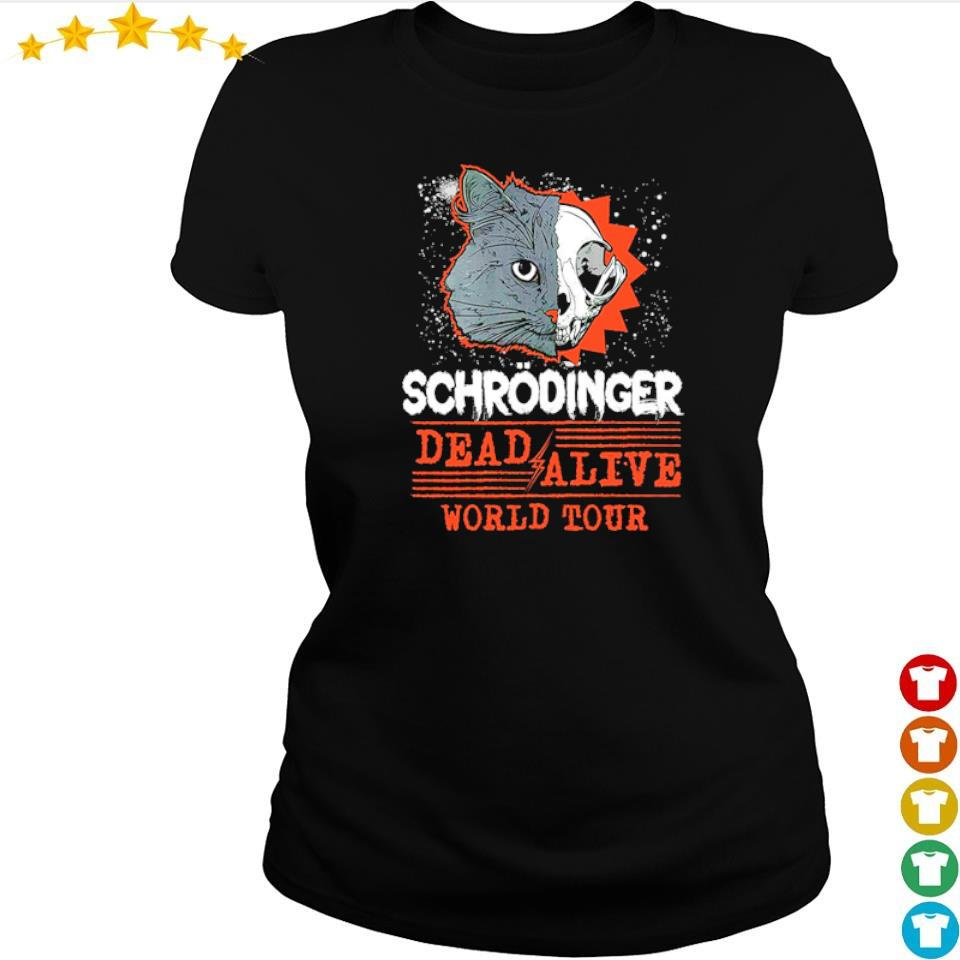 Schrodinger dead and alive world tour s ladies tee