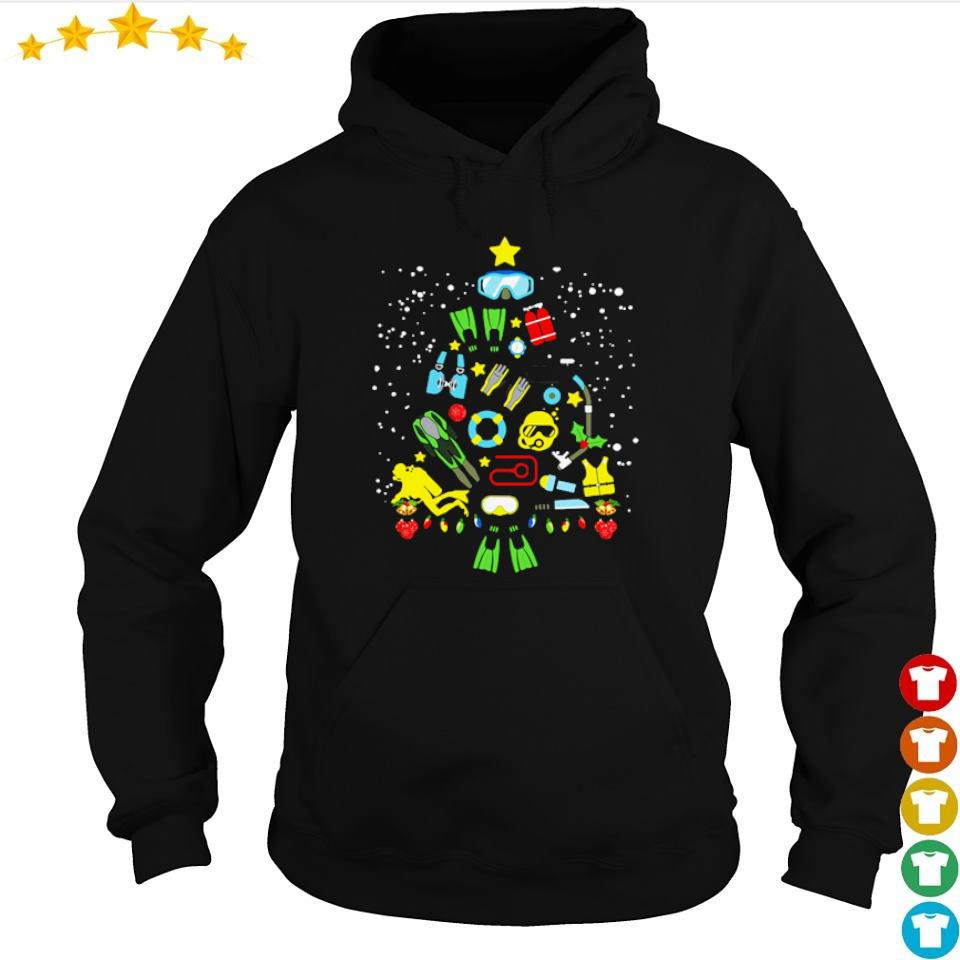 Scuba diving on Christmas tree s hoodie