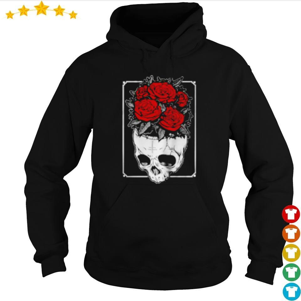 Skull and roses something on my mind s hoodie