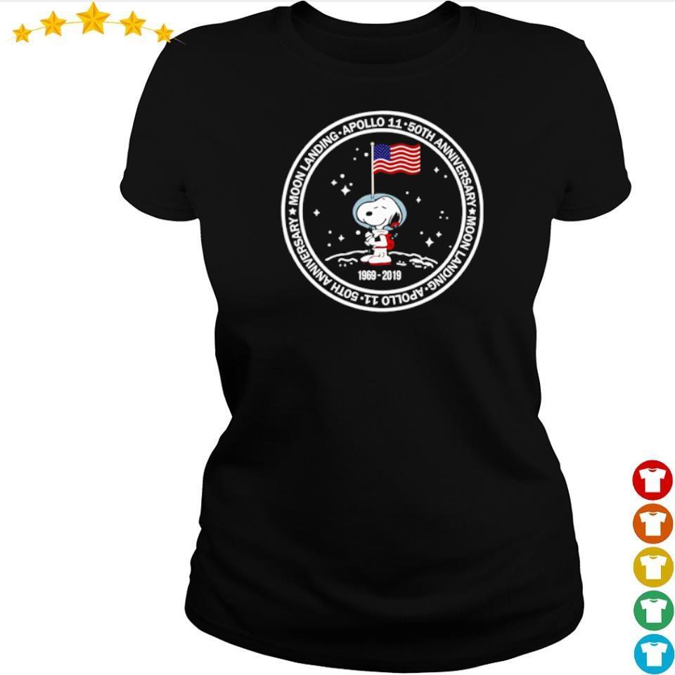 Snoopy Apollo 11 50th anniversary moon landing s ladies tee