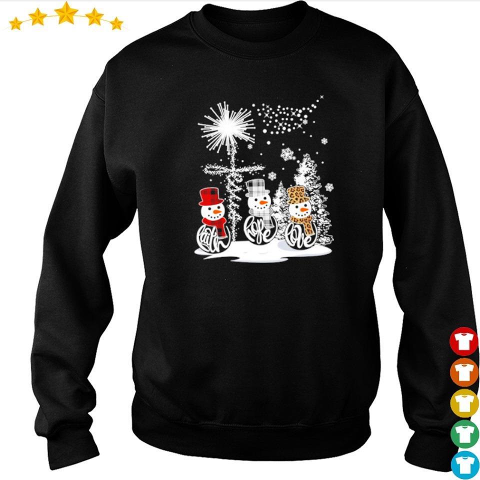 Snowman faith hope love happy Christmas s sweater