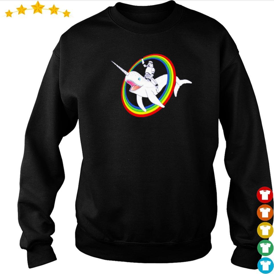 Stormtrooper riding unicorn whale s sweater