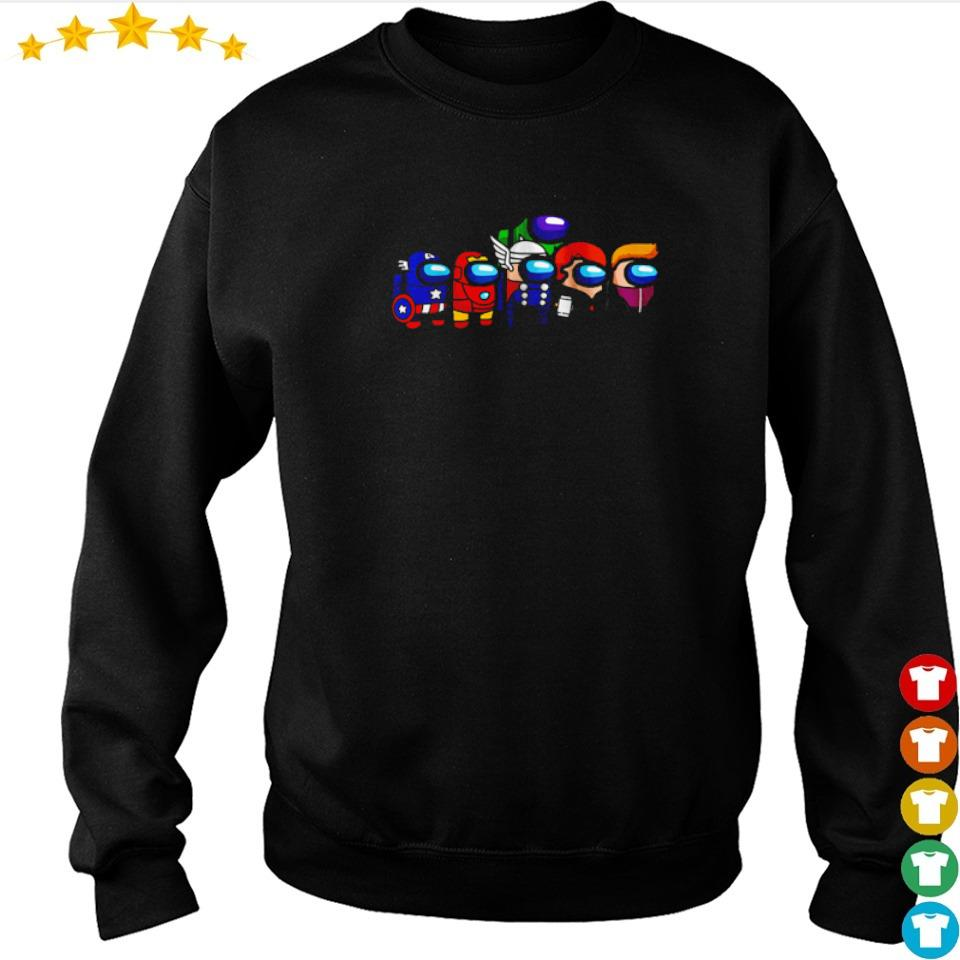 The Avengers in among us characters s sweater