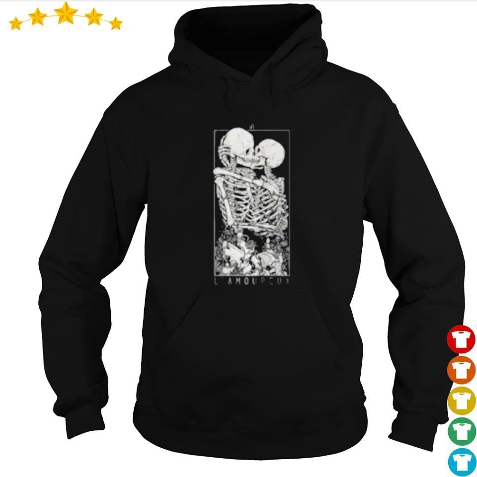 The love of the skeleton happy Halloween s hoodie