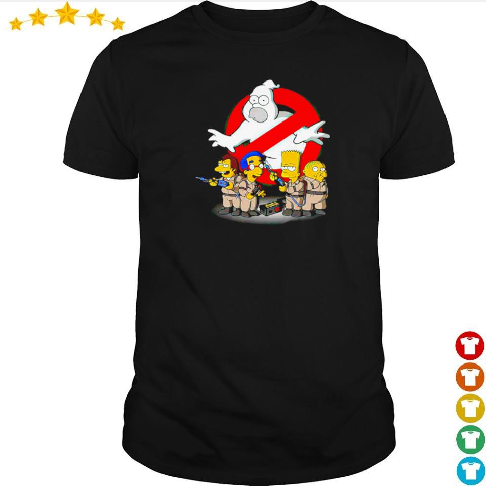 The Simpsons in Ghost Buster movie shirt