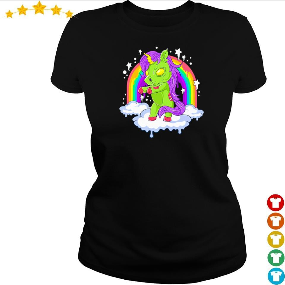 Unicorn zombie zombicorn Halloween s ladies tee
