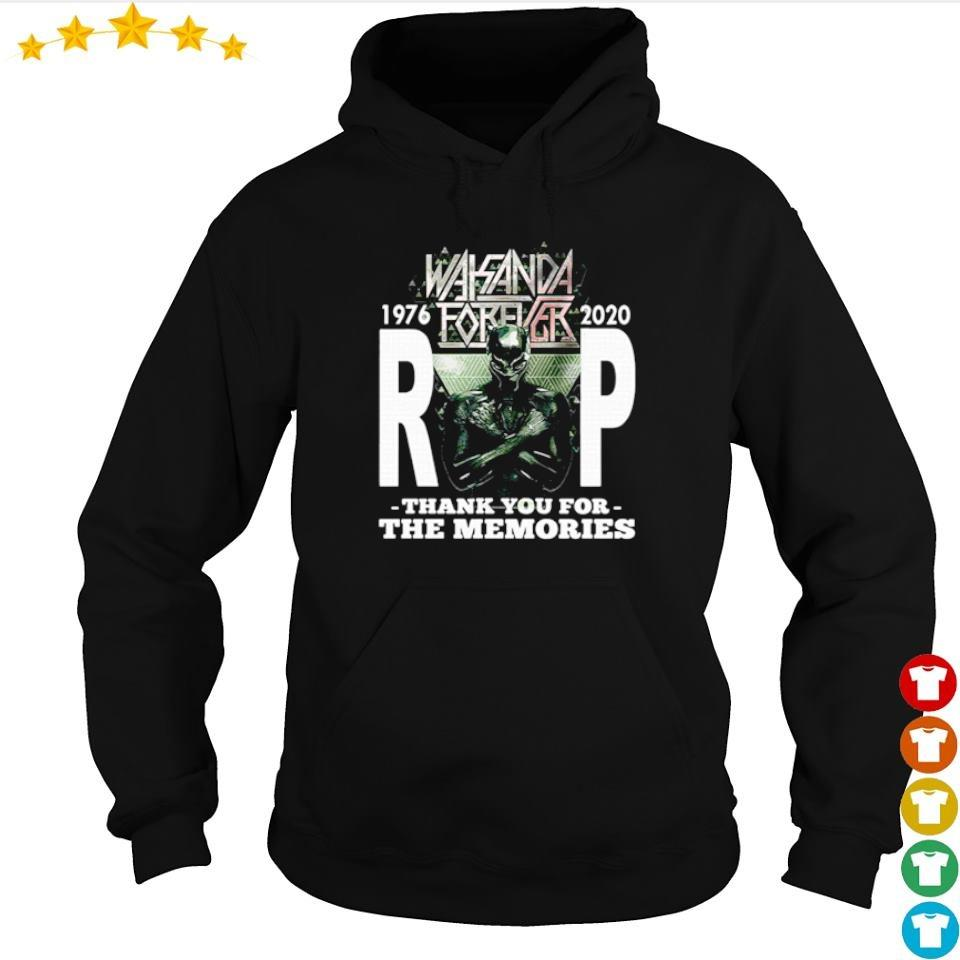 Wakanda Forever RIP Black Panther 1976 2020 thank you for the memories s hoodie