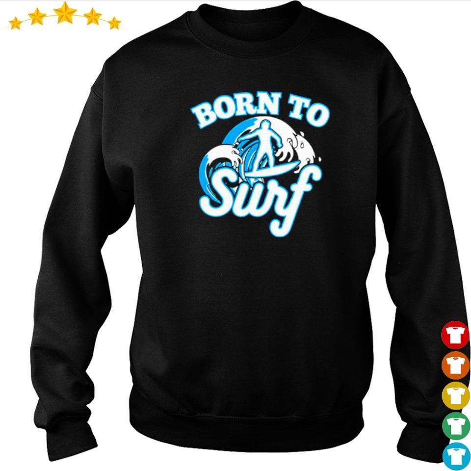 Wave riders born to surf s sweater