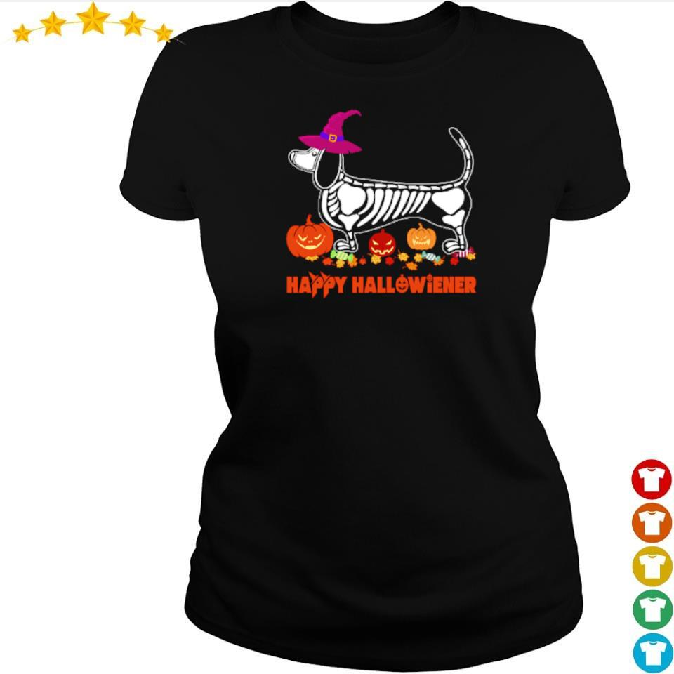 Wiener tattoo skeleton happy Hallowiener s ladies tee